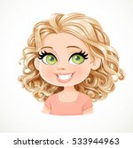 beautiful blonde girl with... | Shutterstock .eps vector #533944963