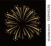 firework gold isolated.... | Shutterstock .eps vector #533945158