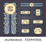 business cards  invitations and ...   Shutterstock .eps vector #533945506