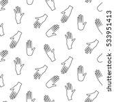 hands hipster vector seamless... | Shutterstock .eps vector #533951413