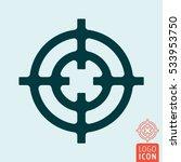 crosshair icon. target circle...