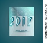 happy new year 2017 design with ... | Shutterstock .eps vector #533956270