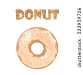 cute isolated donut. tasty... | Shutterstock .eps vector #533959726