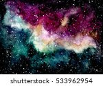watercolor outer space and deep ... | Shutterstock . vector #533962954