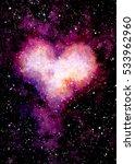 watercolor dark sky  stars and...   Shutterstock . vector #533962960