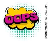 lettering oops  emotion  blame  ... | Shutterstock .eps vector #533963284