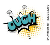 Lettering Ouch  Blame ...