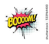 lettering boom  bomb. comic... | Shutterstock .eps vector #533964400