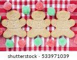 gingerbread man cookies... | Shutterstock . vector #533971039