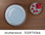 plate with festive holiday... | Shutterstock . vector #533974366