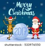 merry christmas calligraphic...   Shutterstock .eps vector #533976550