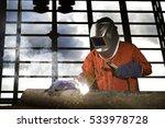 industrial welder working a... | Shutterstock . vector #533978728