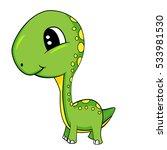 illustration of cute cartoon of ... | Shutterstock . vector #533981530