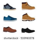 men's shoes isolated set  ...