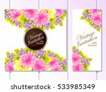 vintage delicate invitation... | Shutterstock . vector #533985349