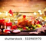 Christmas Dinner. Roasted...
