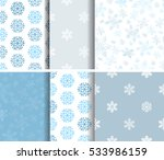 set of seamless  blue winter... | Shutterstock .eps vector #533986159