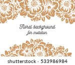 invitation with floral... | Shutterstock .eps vector #533986984