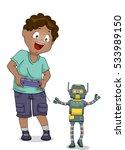 illustration of a little boy... | Shutterstock .eps vector #533989150