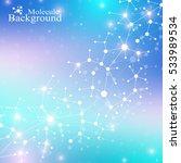 modern structure molecule dna....   Shutterstock .eps vector #533989534