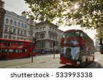 Iconic Red Buses In London.