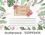 bridal shower vector template.... | Shutterstock .eps vector #533993434