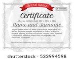 certificate template ... | Shutterstock .eps vector #533994598