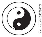 yin yang symbol of harmony and... | Shutterstock . vector #533994829