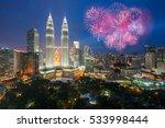 kuala lumpur skyline with... | Shutterstock . vector #533998444