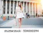 fashionable city girl concept.... | Shutterstock . vector #534000394