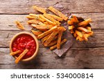 sweet potato fries with herbs... | Shutterstock . vector #534000814