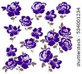 flower illustration object | Shutterstock .eps vector #534001234
