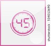 45 second timer | Shutterstock .eps vector #534013690