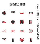 vector bicycle icon set. mono... | Shutterstock .eps vector #534018790