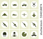 simple army icons set....