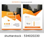 orange polygonal vector annual... | Shutterstock .eps vector #534020230
