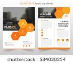 orange hexagon vector annual... | Shutterstock .eps vector #534020254