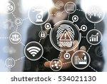 industrial security... | Shutterstock . vector #534021130