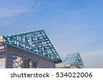 structure of steel roof frame... | Shutterstock . vector #534022006