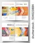 business templates for brochure ... | Shutterstock .eps vector #534023884