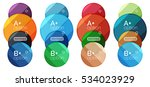 set of round option diagram... | Shutterstock .eps vector #534023929