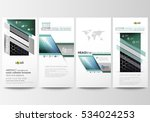 flyers set  modern banners.... | Shutterstock .eps vector #534024253