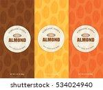 almonds set template   vector... | Shutterstock .eps vector #534024940
