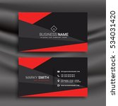 black and red business card... | Shutterstock .eps vector #534031420