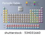 periodic table of elements with ... | Shutterstock .eps vector #534031660