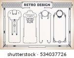 vintage frame design for labels ... | Shutterstock .eps vector #534037726