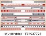 vintage frame design for labels ... | Shutterstock .eps vector #534037729