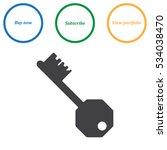 key icon vector flat design... | Shutterstock .eps vector #534038470
