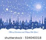 silhouette of snowing  winter...   Shutterstock .eps vector #534040318