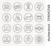 media thin line icon set | Shutterstock .eps vector #534042568